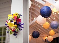 idea for decorating with paper lanterns