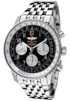 Breitling Men's Navitimer 01 Automatic Chronograph Black Dial Stainless Steel