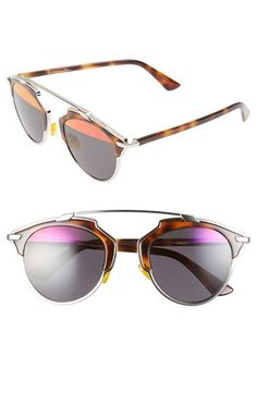 Dior+'So+Real'+48mm+Sunglasses+available+at+#Nordstrom