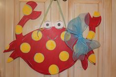 Wooden Crab Door Hanger by ASouthernCreation on Etsy, $45.00