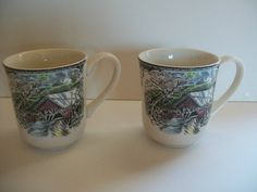 Set of 2 Johnson Brothers Friendly Village Series Coffee Mugs Covered Bridge | eBay $9.99