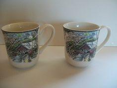 Set of 2 Johnson Brothers Friendly Village Series Coffee Mugs Covered Bridge | eBay $9.99