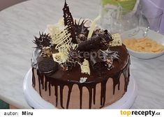 Čokoládovo-šlehačkový dort recept - TopRecepty.cz 13th Birthday Parties, Birthday Cake, Nutella Cake, Brownie Recipes, No Bake Desserts, Red Velvet, Ale, Cheesecake, Yummy Food