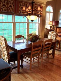 Interior Design Decorating Ideas Malloryfields Dining Room Window Treatments