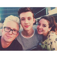 OMG THESE R THREE OF MY FAVORITE YOUTUBERS!!! but u need to add Connor franta