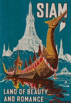 DP Vintage Posters - Original Siam Land of Beauty and Romance Travel Brochure Thailand #Vintagetravelposters