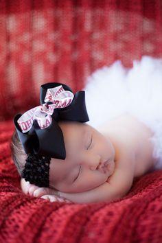 Newborn photo boomer sooner football photo idea