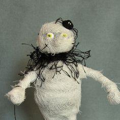 Halloween Mummy Figurine by APieceofLisa on Etsy
