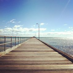 Walk on the boardwalk and listen to the boards creak under your feet
