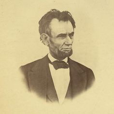 """""""The Latest Photograph of Abraham Lincoln"""" by Henry F. Warren, March 6, 1865.  According to the Library of Congress, considered to be the last living picture.  He looks completely annoyed."""