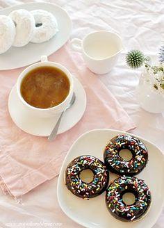 Confetti Cake Baked Doughnuts Recipe — Dishmaps