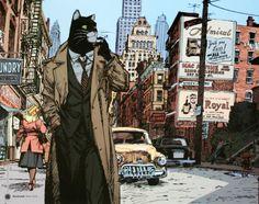 Rayon : Affiches, Série : Blacksad, Blacksad à New-York (40 x 50 cm) (Cliquer pour agrandir)