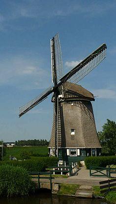 Polder mill De Westermolen, Nieuwe Niedorp, the Netherlands.
