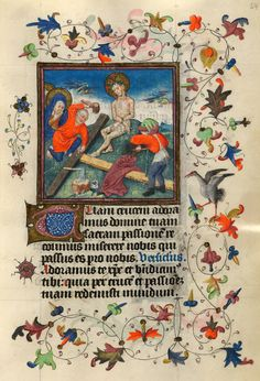 Preparation of the Cross | Hours of Catherine of Cleves | Illuminated Manuscript | ca. 1440 | The Morgan Library & Museum