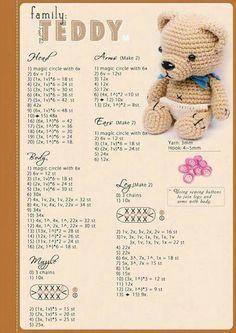 Diy Crafts - Mesmerizing Crochet an Amigurumi Rabbit Ideas. Lovely Crochet an Amigurumi Rabbit Ideas. Crochet Bear Patterns, Crochet Bunny Pattern, Amigurumi Patterns, Amigurumi Doll, Crochet Animals, Crochet Designs, Doll Patterns, Diy Crochet, Crochet Crafts