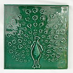 Antique Tile with Peacock. Click on the image for more information.