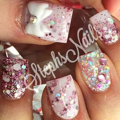 Stephanie Rochester @_stephsnails_ #pink#newyear#spa...Instagram photo | Websta (Webstagram)