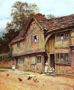 At West Tarring, near Worthing ~ Helen Allingham ~ (English: 1848-1926)