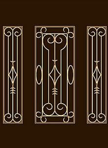 Residential Doors crafted by Artisans at Doors by Decora Steel Grill Design, Grill Gate Design, Railing Design, Window Grill Design Modern, Window Protection, Wrought Iron Wall Decor, Door Crafts, House Front Design, Trellis Design