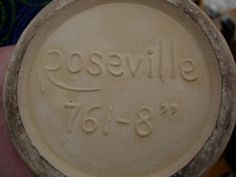 Roseville Repro Mark - -Pamela Wiggins // How to spot a fake and identify authentic Roseville Pottery