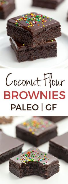 These delicious and easy coconut flour brownies are super fudgy and nobody will believe that they're paleo, let alone gluten-free, grain-free, nut-free and dairy-free! With a how-to recipe video.