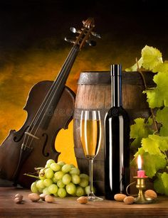 Photo about Still life with wine and violin on nice background. Image of still, white, beverage - 11736397 - Angela💚 De Leon - - Photo about Still life with wine and violin on nice background. Image of still, white, beverage - 11736397 - Angela💚 De Leon Fruit Photography, Still Life Photography, Tabletop Photography, Wine Painting, Glass Printing, Wine Art, Still Life Art, Caravaggio, Cool Backgrounds