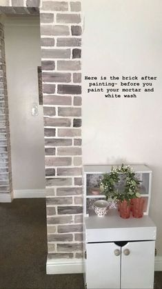 I have always loved the look of exposed brick in homes! Our home, unfortunately, didn't have any, so I decided to find a way to add it myself. Faux Brick Panels, Brick Paneling, Brick Accent Walls, Brick Wall, Faux Brick Backsplash, White Shiplap, Wall Molding, Exposed Brick, Textured Walls