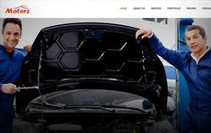Free Car wash website template