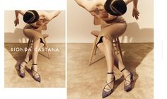 Bionda Castana Fall Winter 2015 Campaign, fronted by Ellinore Erichsen. Shoes Editorial, Ballet Shoes, Dance Shoes, Fall Winter 2015, Pumps, Heels, Floral Lace, Campaign, Navy