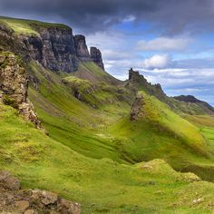 The Quiraing is a landslip on the eastern face of Meall na Suiramach, the…