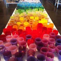 a glassybaby road show at mercer.
