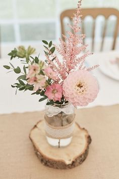 Table Centre Pink Flowers Floral Eucalyptus Dahlia Wood Slice Laser Cut Name He. Table Centre Pink Flowers Floral Eucalyptus Dahlia Wood Slice Laser Cut Name Hessian Flag Runner Wood Farm Barn Wedding Suffolk Faye Amare Photography Wedding Table Centres, Wedding Table Decorations, Bridal Shower Decorations, Buffet Wedding, Barn Wedding Centerpieces, Wedding Reception, Desk Decorations, Baby Shower Girl Centerpieces, Table Centre Pieces Wedding