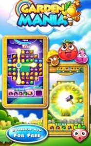 Garden Mania is a new flavor of Match-3 puzzle game from the makers of super hit games Save My Bird and Bubble Bird Rescue!