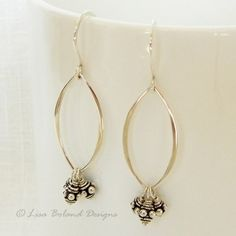 Marquis Earrings, Sterling Silver | Lisa Boland Designs