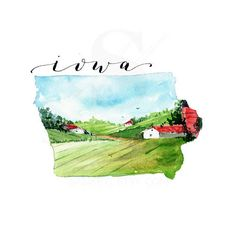 IOWA State Map Art Print Art print Christmas Gift