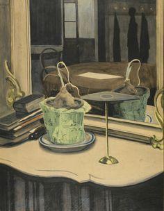Léon Spilliaert (Belgian, 1881-1946) Interior with onion (Intérieur à l'oignon), 1909 Gouache, watercolour and crayon on paper, 72.8 x 55.5 cm
