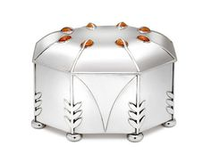 Koloman Moser Pure Silver Box, Designed in 1902, from Neue Gallerie.