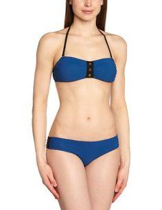 Albertine - Traje de baño premamá para mujer, talla 36, color bleu et noir