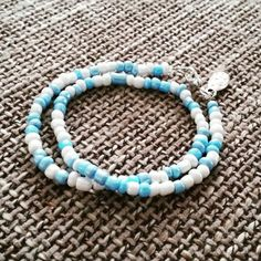 Your place to buy and sell all things handmade Beaded Necklace, Beaded Bracelets, Summer Bracelets, Turquoise Bracelet, My Etsy Shop, Crafty, Trending Outfits, Unique Jewelry, Handmade Gifts