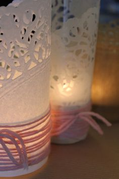DIY : photophores napperons en papier