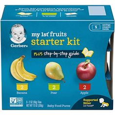 Gerber Purees My 1st Fruits, 2 Count: Amazon.com: Grocery & Gourmet Food Baby Puree Recipes, Baby Food Recipes, Gourmet Recipes, Gerbera, Apple Baby Food, Baby Cereal, Nutritious Meals, Meals For One