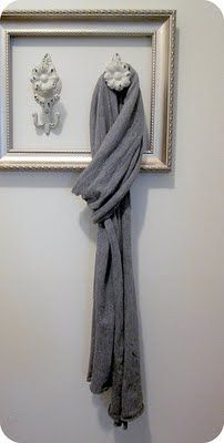 What a great way to display scarves