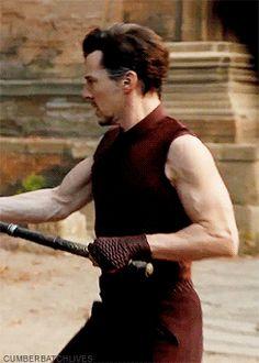 Ben in doctor Strange. Look at those guns daaamn