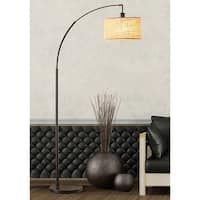 Silver LED Amsterdam Floor Lamp - On Sale - Overstock - 28178910 - large - silver Antique Floor Lamps, Arc Floor Lamps, Cool Floor Lamps, Industrial Style Lamps, Silver Floor Lamp, Light Bulb Types, Drum Shade, Contemporary Decor, Decorating Your Home