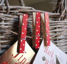 Clothes pins for Christmas ##cute