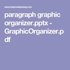 paragraph graphic organizer.pptx - GraphicOrganizer.pdf
