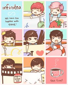 infinitea: lets have tea together with infinite! by ~Yutong on deviantART!!