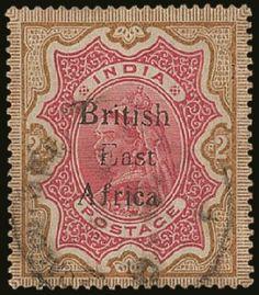 BRITISH EAST AFRICA  2 Rupees 1895