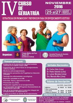 IV CURSO NACIONAL DE GERIATRIA | Central Informativa del Adulto Mayor