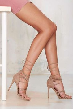 Nasty Gal Wrap Me Up Suede Heel - Back In Stock | Best Sellers | Back In Stock | Suede | Heels | Shoes | All | Shoes